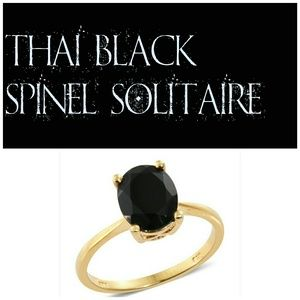 Thai Black Spinel Solitaire